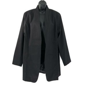 Eileen Fisher Open Jacket Black Ramie Elastane
